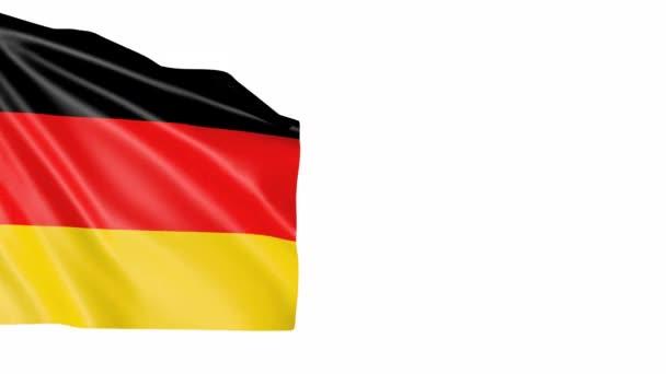 Hintergrund schwenkt Deutschland-Fahne. animiertes Symbol des Landes.