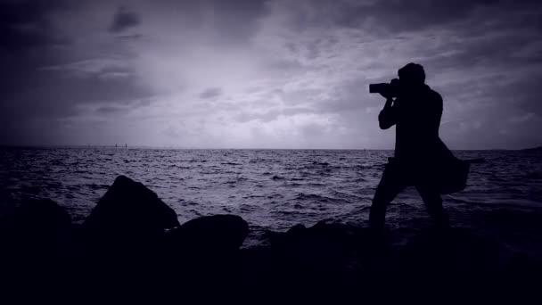 Fotograf na střelbě z koření.