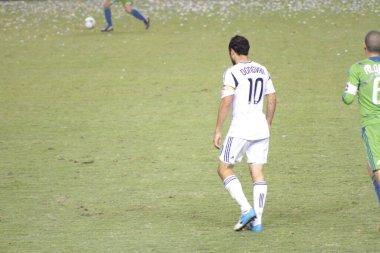 Football club Los Angeles Galaxy. Football star David Landon Donovan