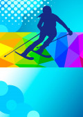 winter alpine sport graphic in vector quality