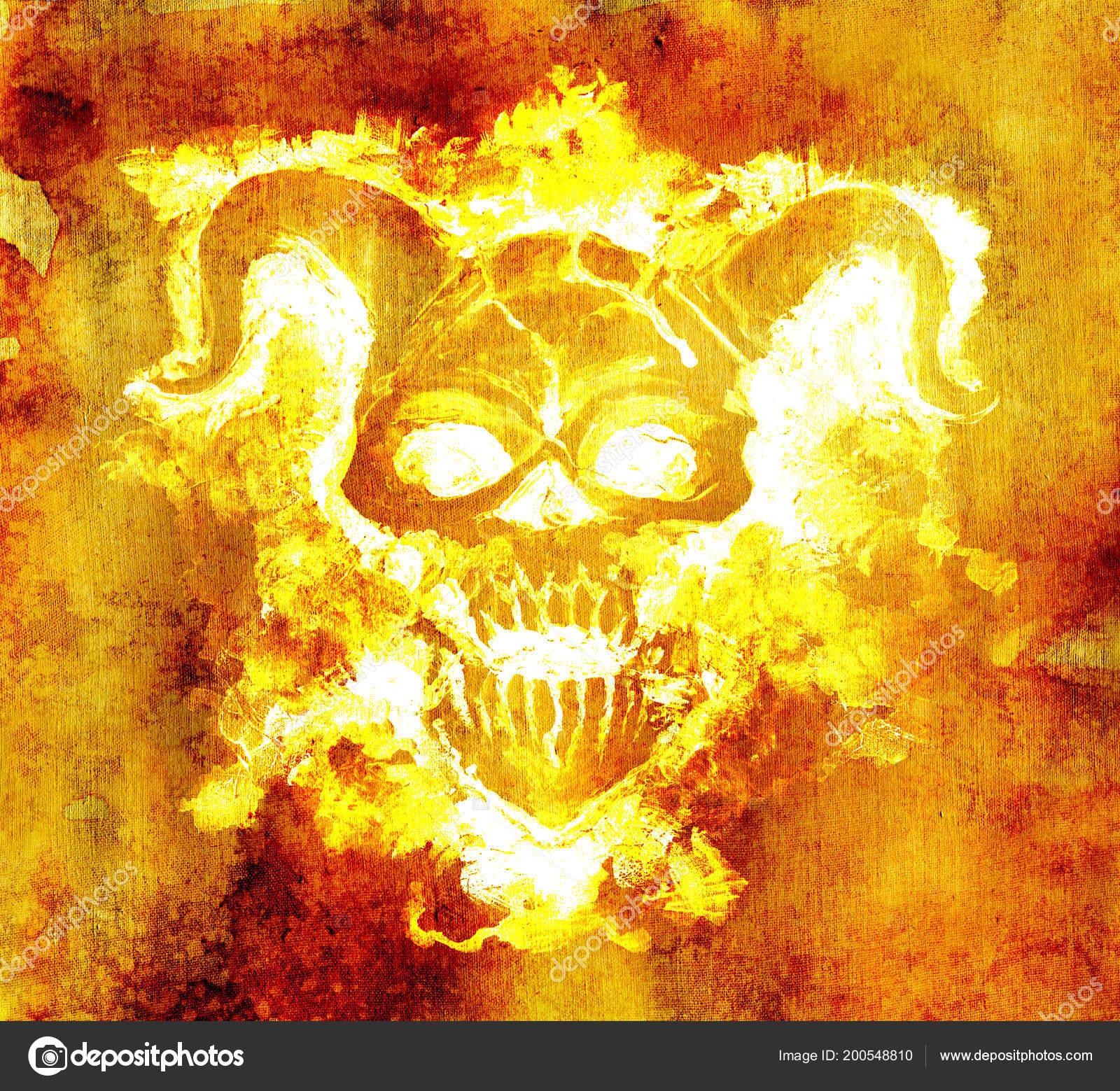 Devil Hell Flame Grunge Texture Background Death Symbol Black Magic