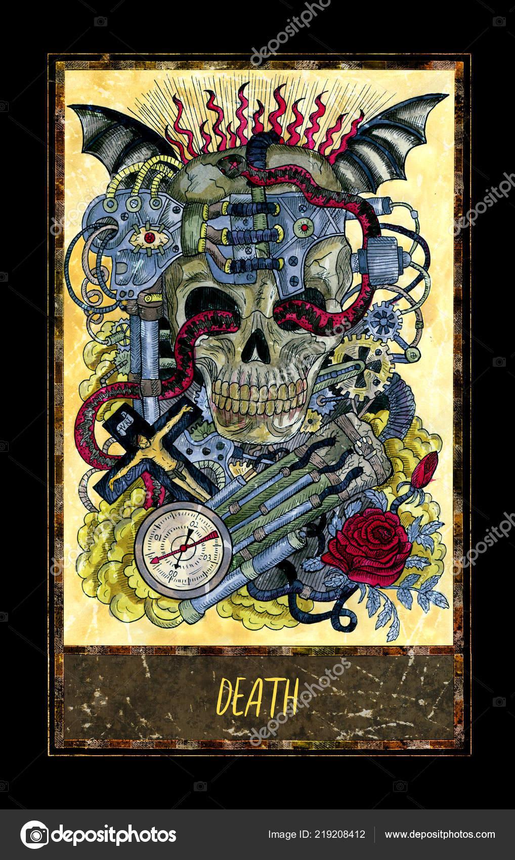 Smrt Major Arcana Tarotova Karta Magic Gate Balicek Graficke