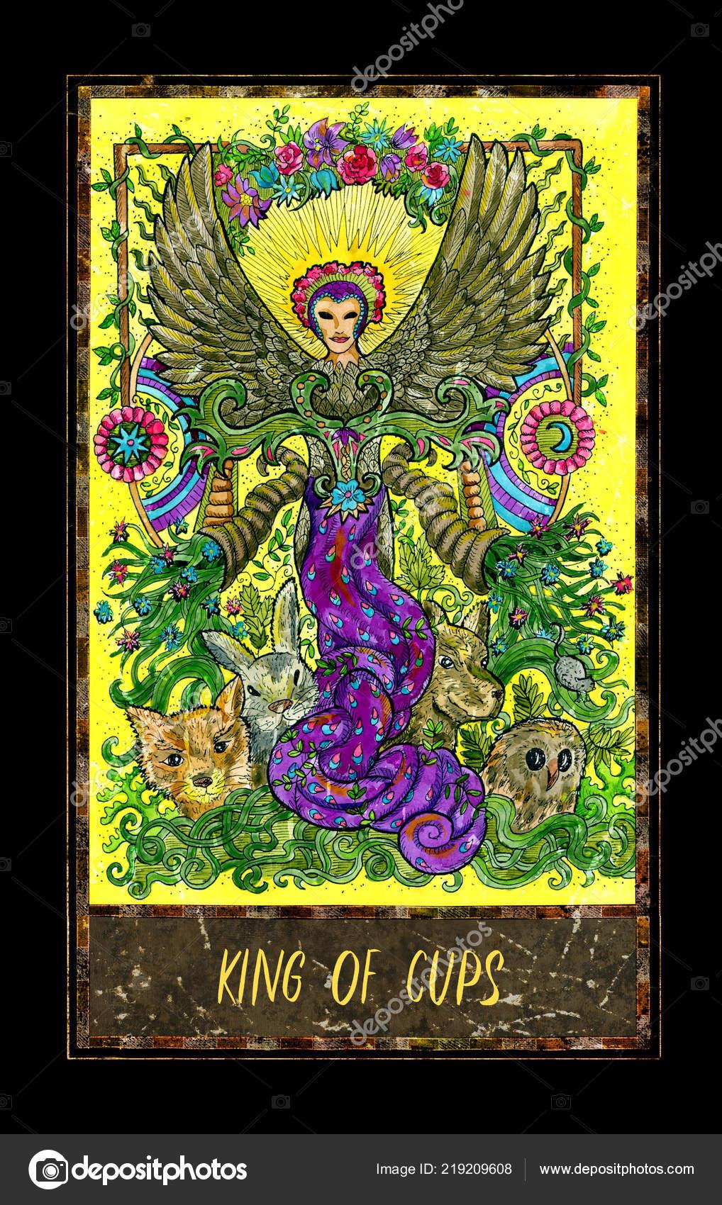 Kral Poharu Male Tarotova Karta Arcana Magic Gate Balicek Graficke