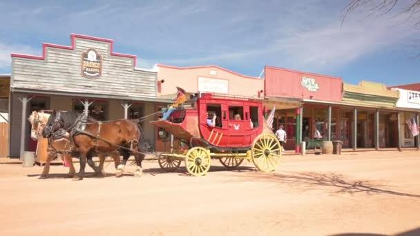 Jízda kočárem v Tombstone Arizona, zpomalení
