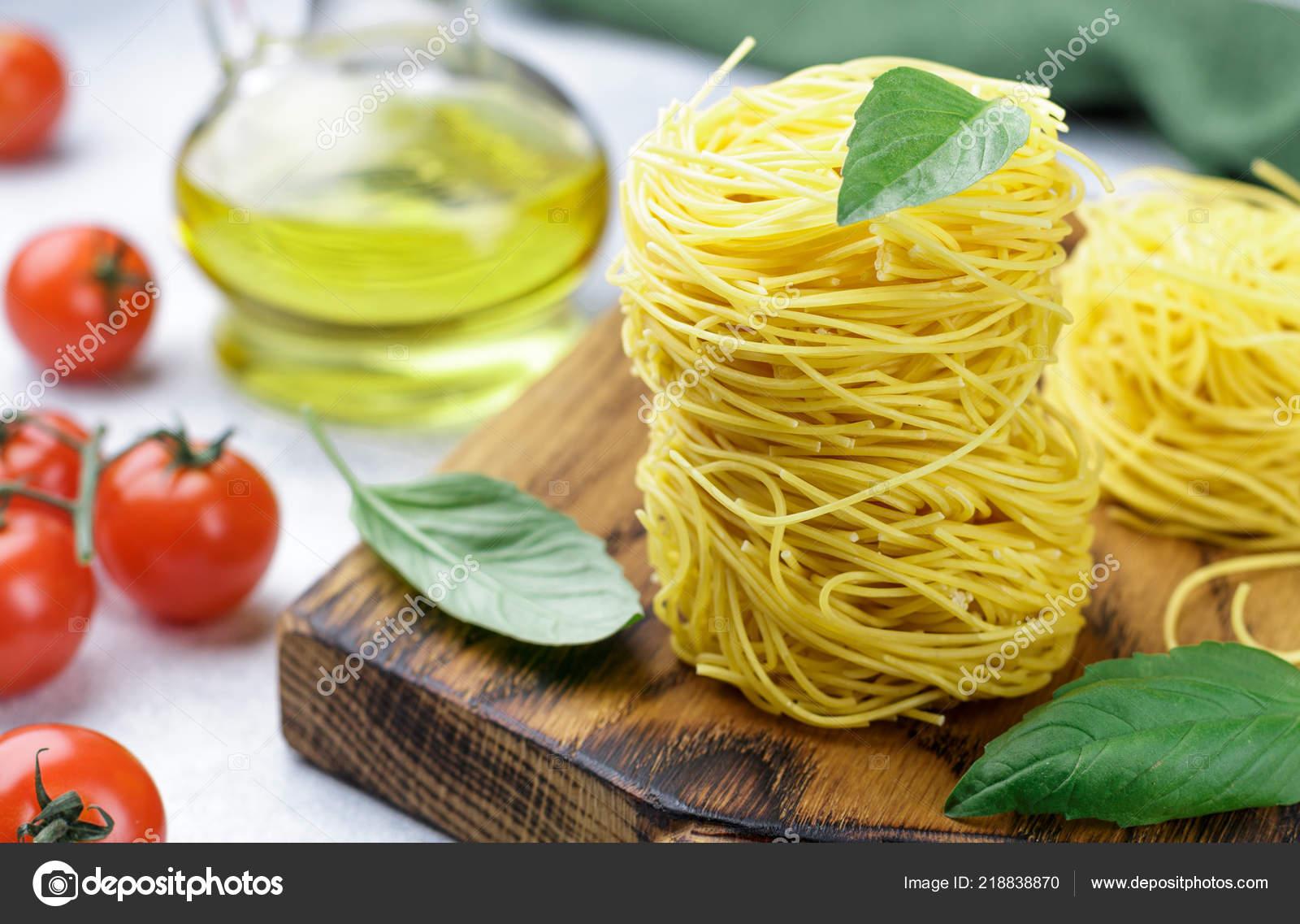 Raw Egg Pasta Nest Homemade Capelli Angelo Angel Hair Italian