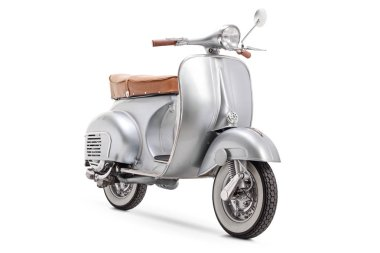 Vintage 1961 VBB 150 Vespa scooter isolated on white background