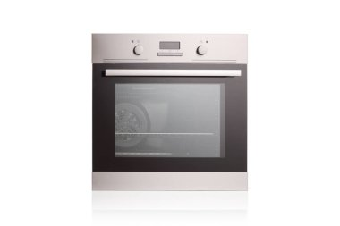 Studio shot of an electric oven isolated on white background