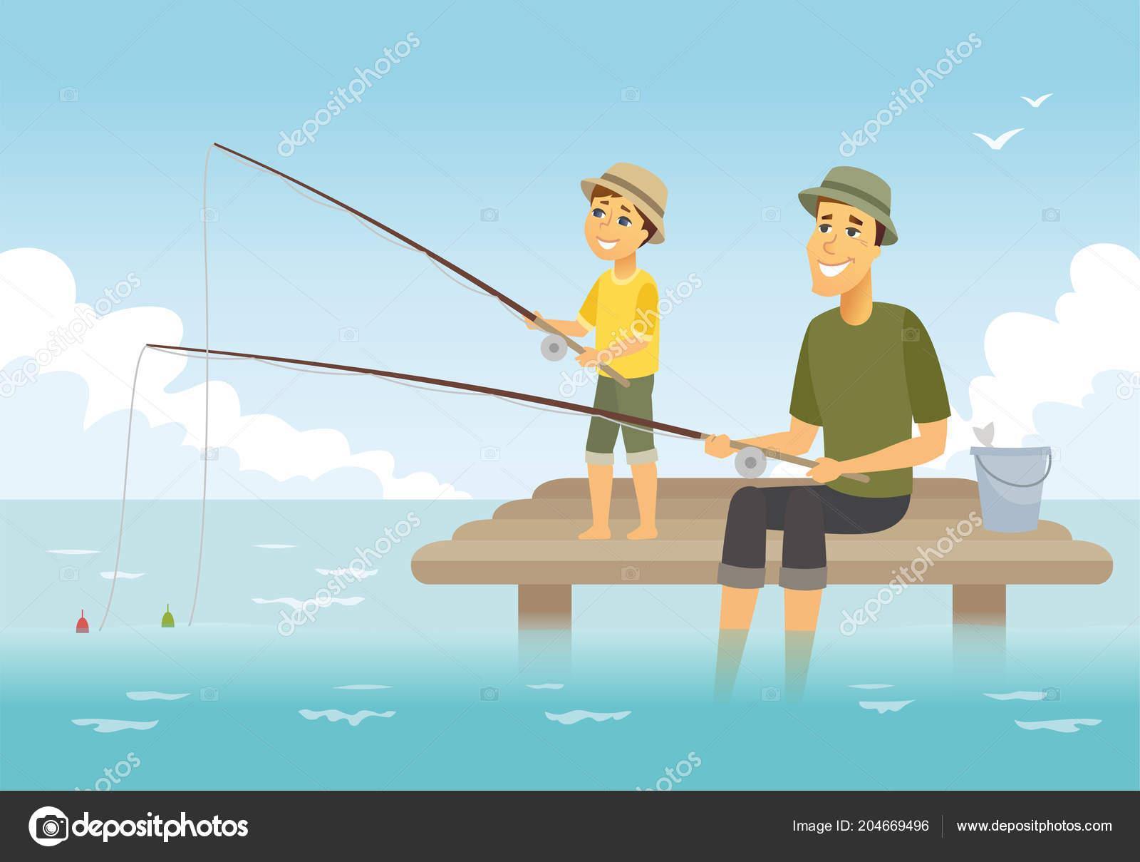 Lắng nghe lời thì thầm của trái tim  Depositphotos_204669496-stock-illustration-father-and-son-fishing-cartoon