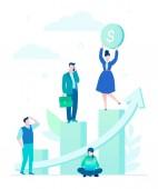 Fotografie Unternehmenswachstum - flaches Design Stil bunte illustration