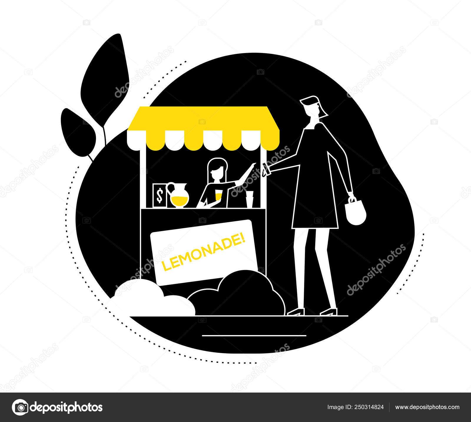 Street food - flat design style vector illustration — Stock