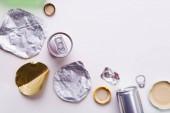 Fényképek Válogatás a fém szemetet újrahasznosítás. Az újrafeldolgozás fogalma