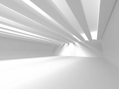 White Architecture Construction Modern Interior Background. 3d Render Illustration stock vector