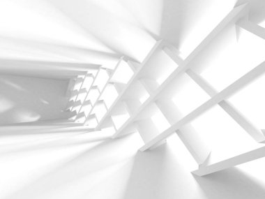 Abstract Modern White Architecture Background. 3d Render Illustration stock vector