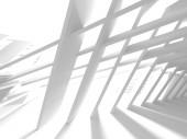 Fotografie Abstract Modern White Architecture Background. 3d Render Illustration