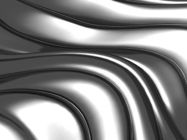 Abstract silver wavy stripes background. 3d render illustration stock vector