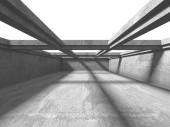 Temné konkrétní prázdné místnosti. Moderní architektura design