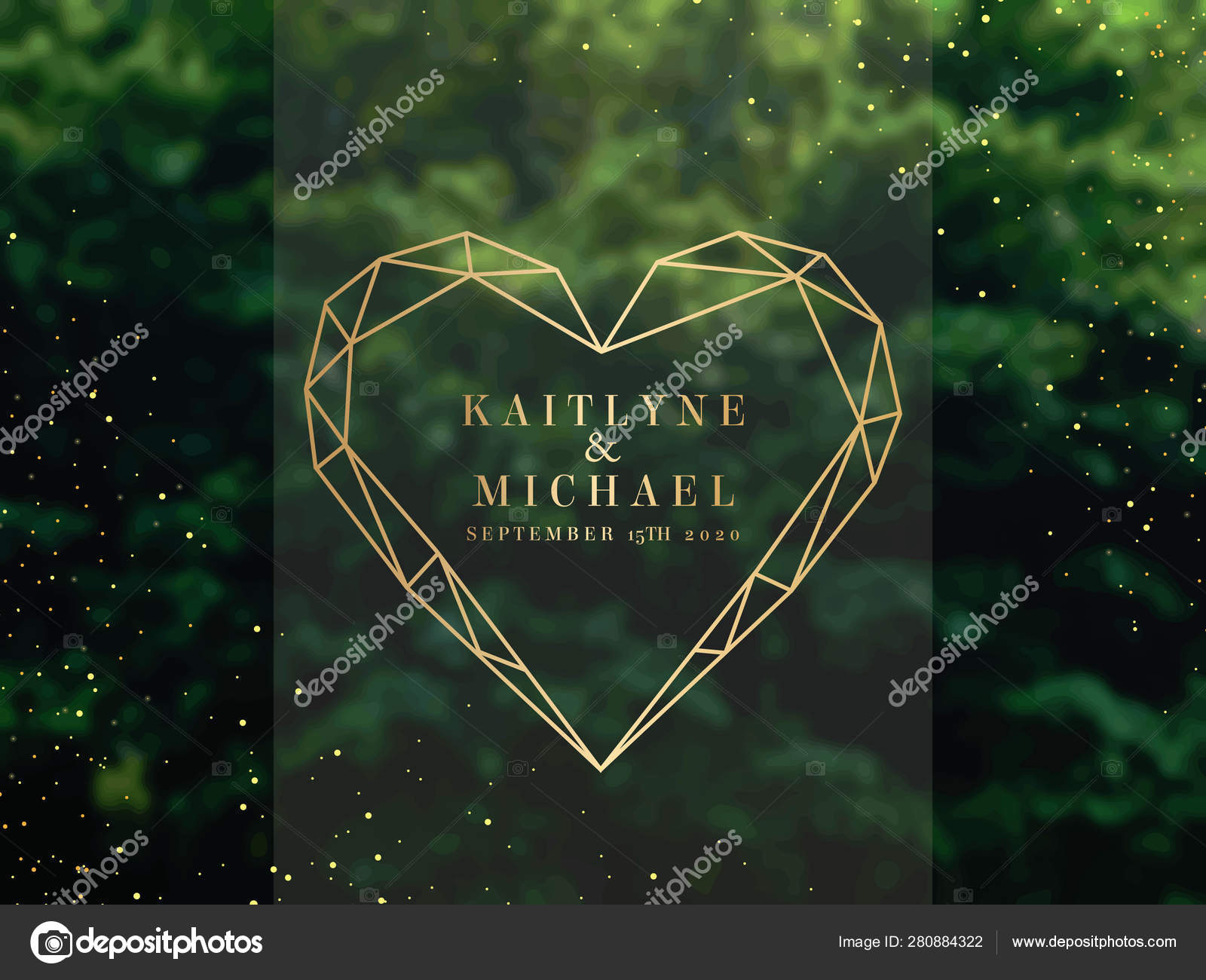 Emerald Greenery Forest Foliage Vector Background Stock