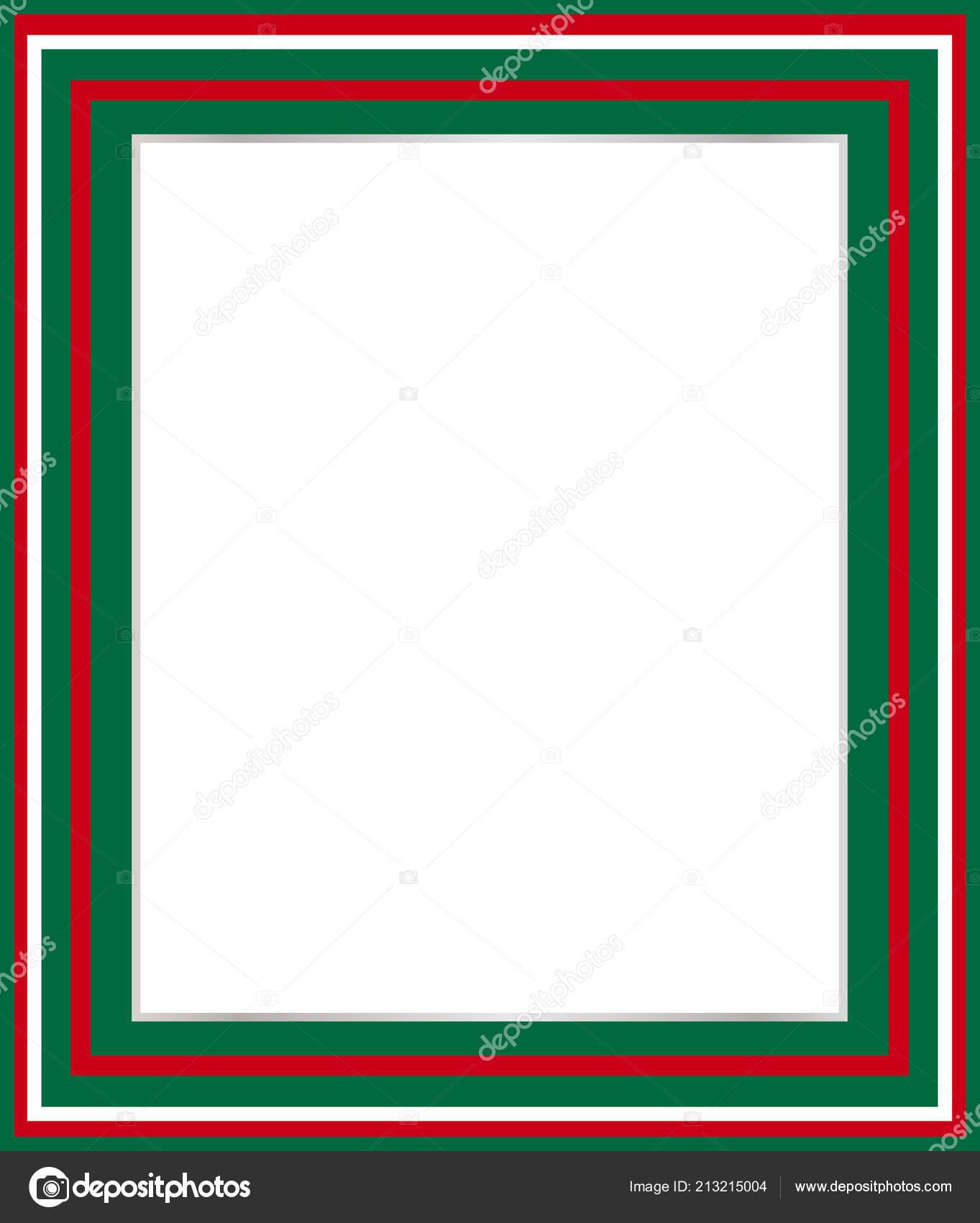 Italienische Grüne Weiße Rote Grenze Für Bilderrahmen Menüs