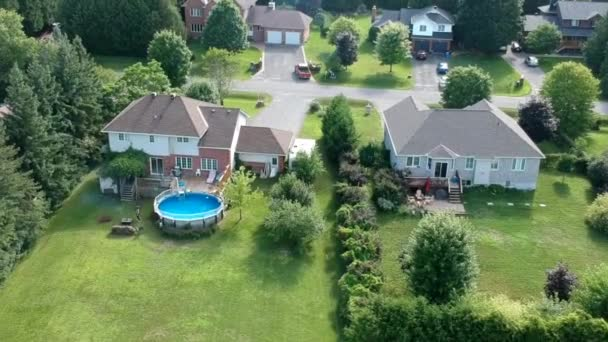 Arial view of a housing subdivision on a sunny day