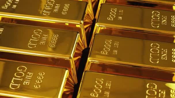 Aranyrúd vagy ingot. Stacked arany aranyrudak alacsony látószögű.