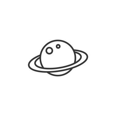 saturn planet icon vector illustration design
