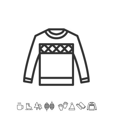 sweater icon vector illustration sign