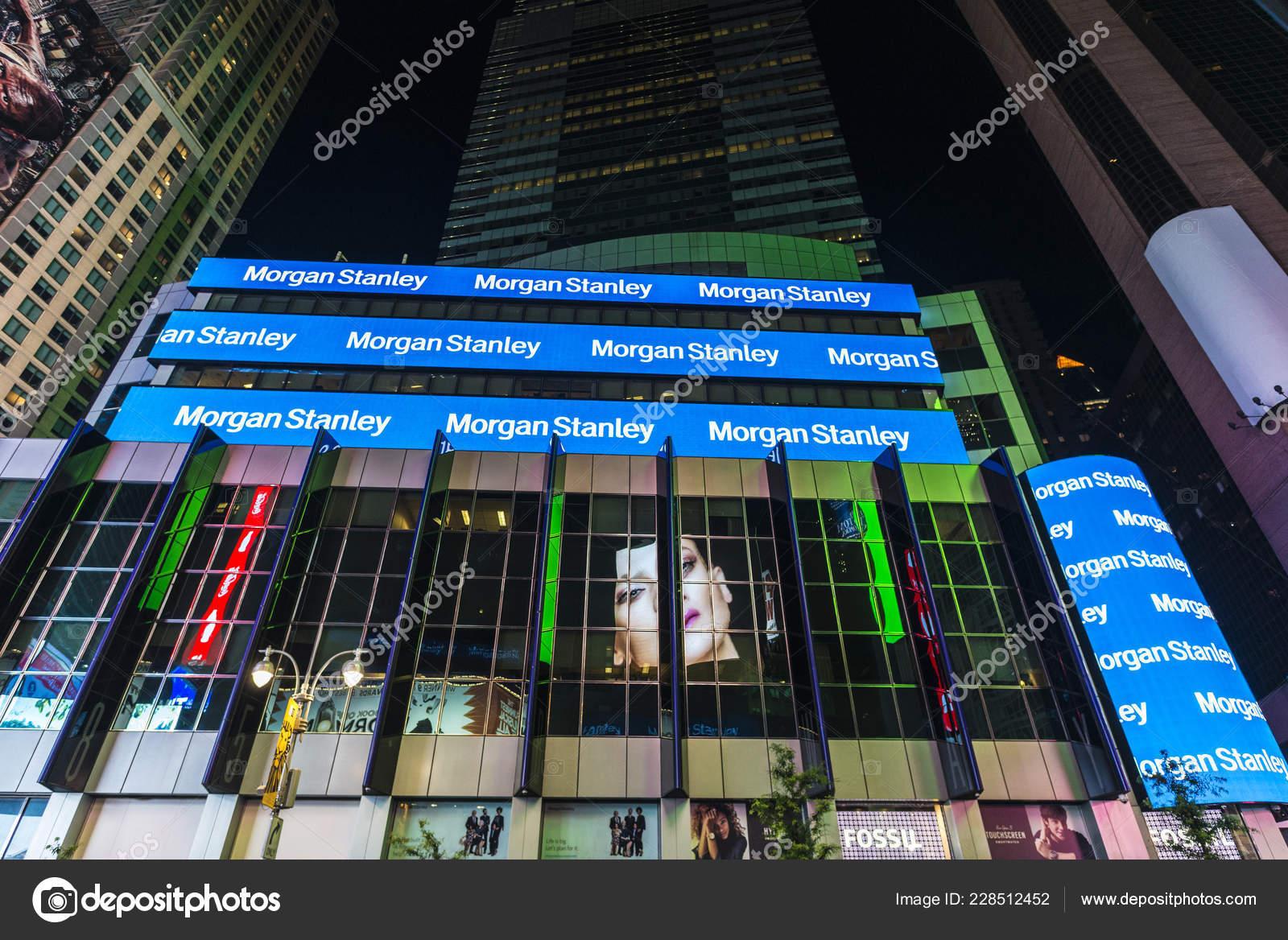 New York City Usa July 2018 Headquarters Morgan Stanley Night