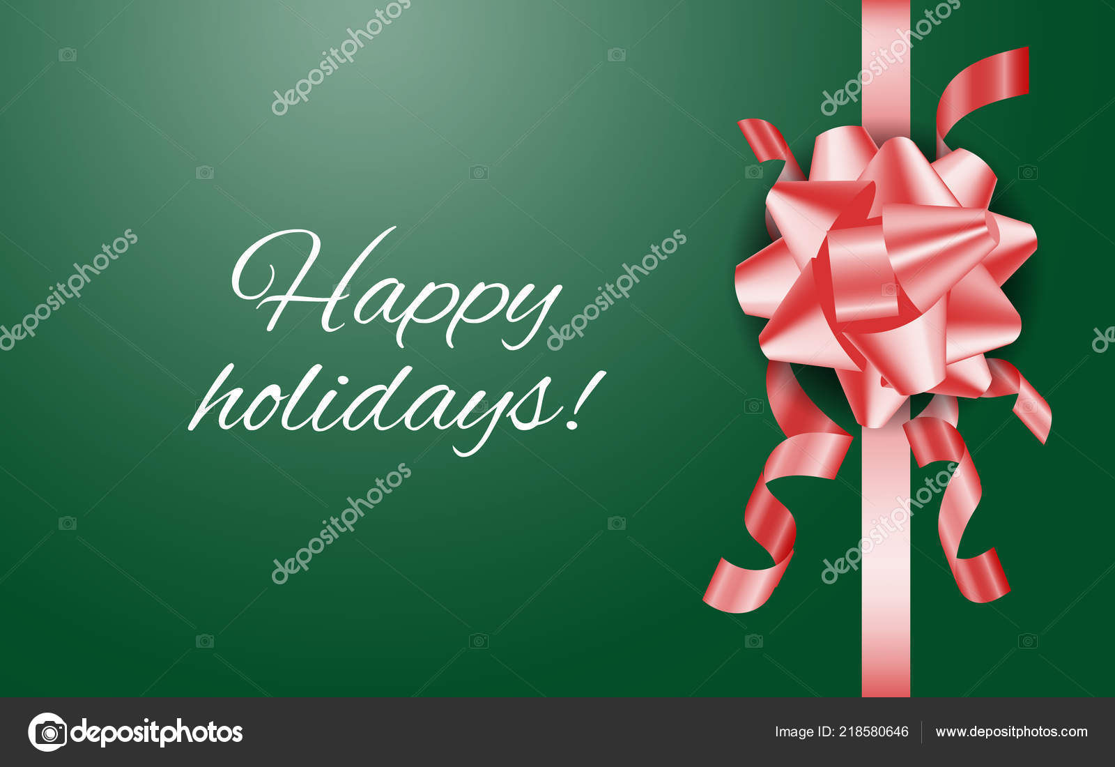 christmas and new year background with ribbon stock vector