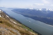 Photo The scenic view of Inside Passage from Mount Roberts (Juneau, Alaska).