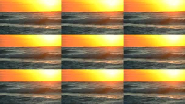 Západ slunce východ slunce svítá na oceán moře
