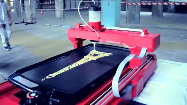 3D tiskárna tisk palačinky s tekutého těsta různé tvary