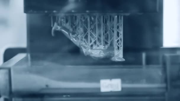 Stereolithography DPL, SLA 3d printer creating shap