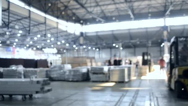 Construction works inside large building