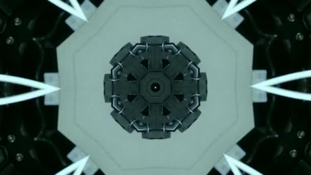 Abstraktní kaleidoskop, pozadí pohybu. Posloupnost vícebarevných grafik
