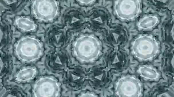 Sekvenční vzory ornamentů v různobarevných grafikách. Modrá bílá