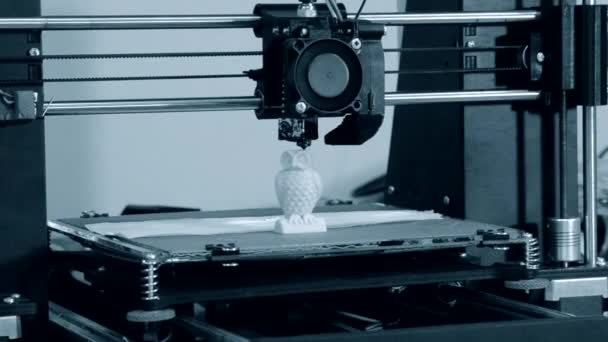 3D printer working. Fused deposition modeling