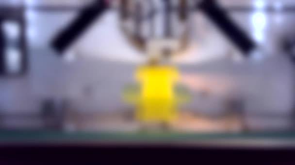 Rozmazané pozadí. 4 čtyři videa Timelapse Proces nového tisku