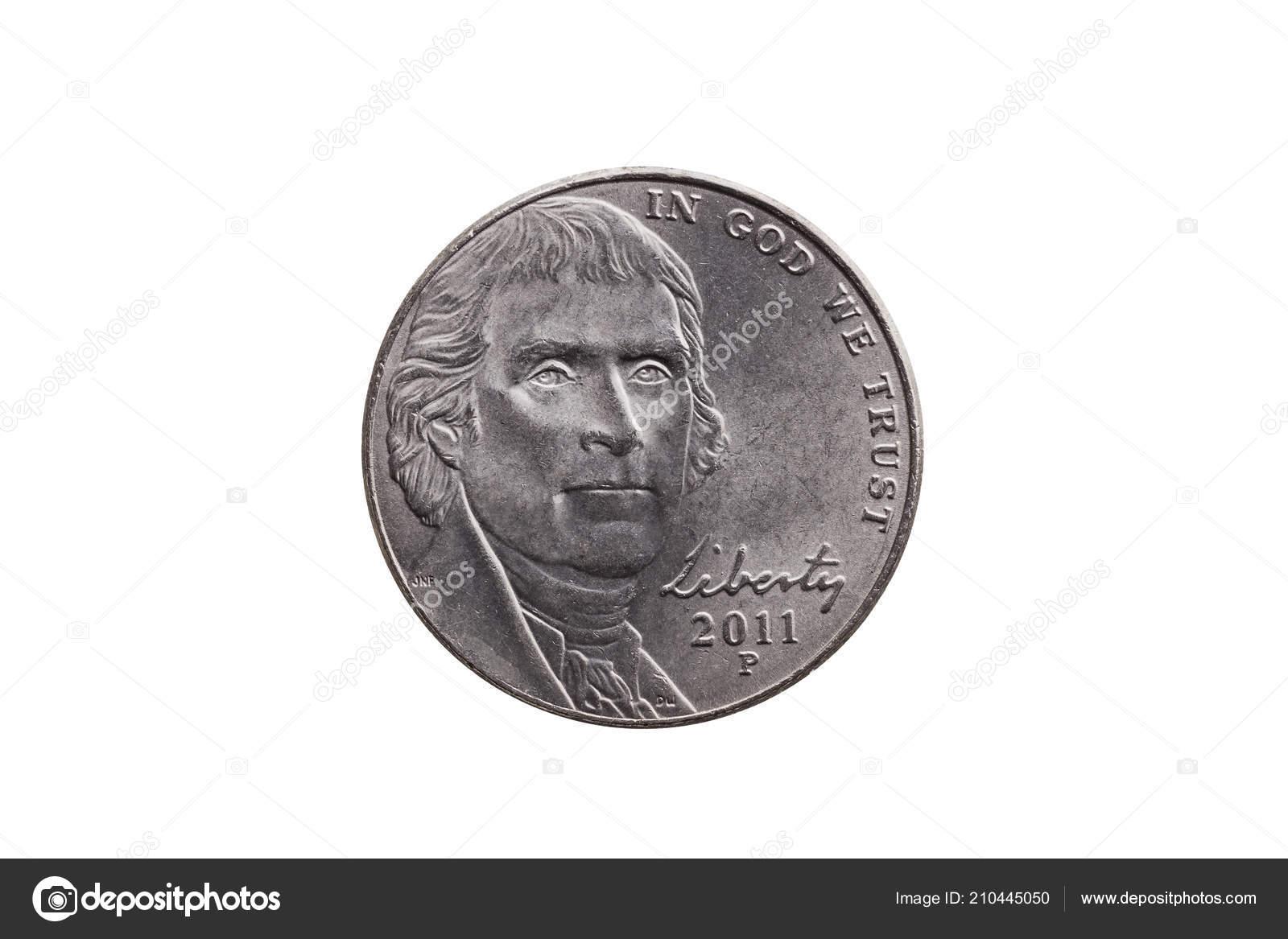 Usa Eine Halbe Groschen Nickel Münze Cent Mit Einem Portraitbild