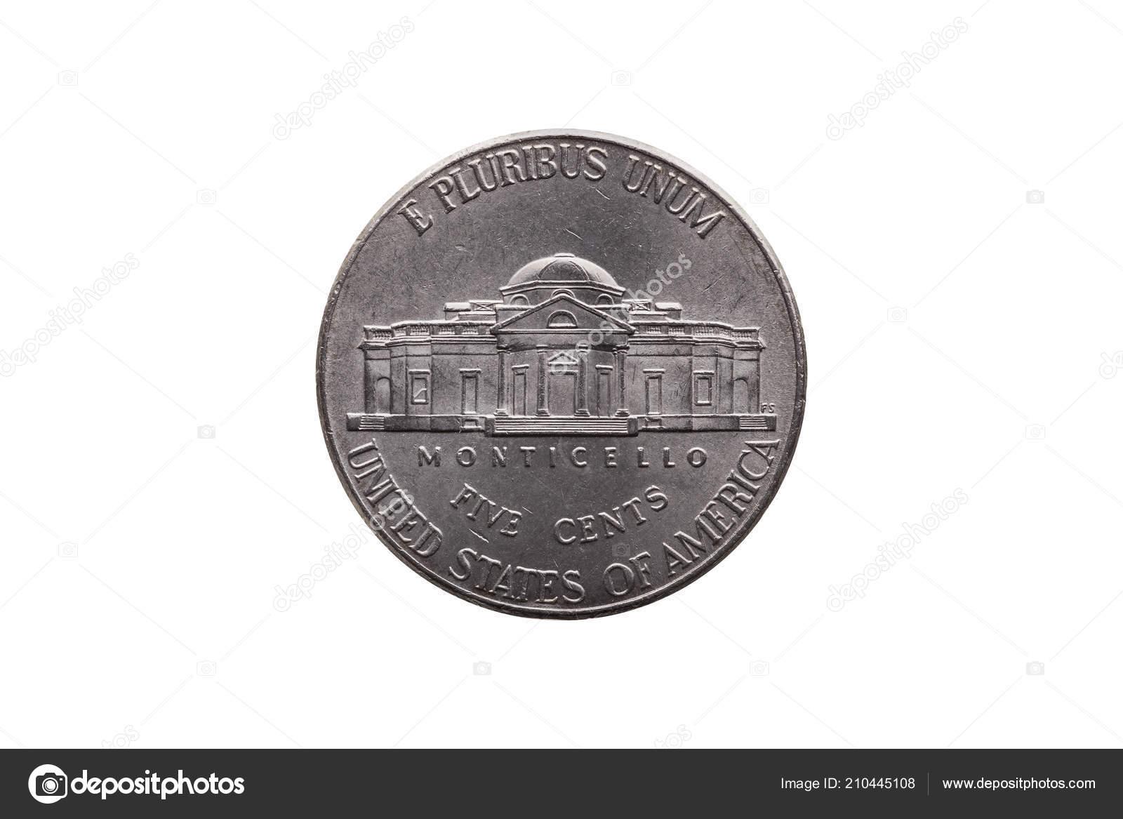 Usa Einem Halben Cent Nickel Münze Cent Reverse Zeigt Monticello