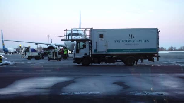 KIEV, UKRAJINA - 23. března 2018: Mezinárodní letiště Boryspil. Největší na objemy přepravy na letišti na území Ukrajiny.