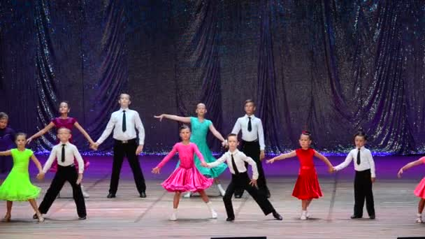 BERDYANSK, UKRAINE - JULY 1, 2017: Report concert of the center of sports dance Victory Dance, head Berest Victoria.