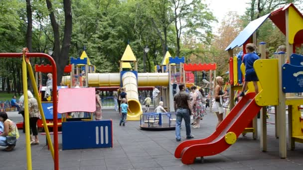 Kinderspielplatz. Dreharbeiten im Sommer.
