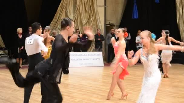 DONETSK, UKRAINE - MARCH 25: People compete in the Stanislav Shklyars CUP, part of the X International Open DanceSport Competition, on March 25, 2012 in Donetsk, Ukraine.