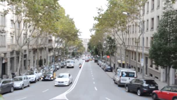 V ulicích Barcelony. Španělsko.