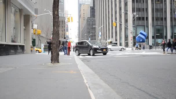 Lidé a chodci. New York, USA.