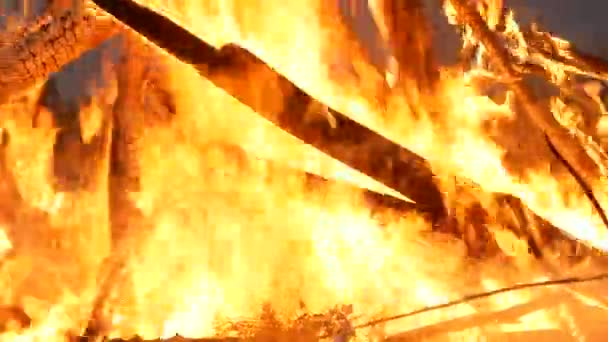 Bonfire. Pobočky v ohni zblízka. Slavnosti lidových dovolená Kupadelné svátky na Ukrajině