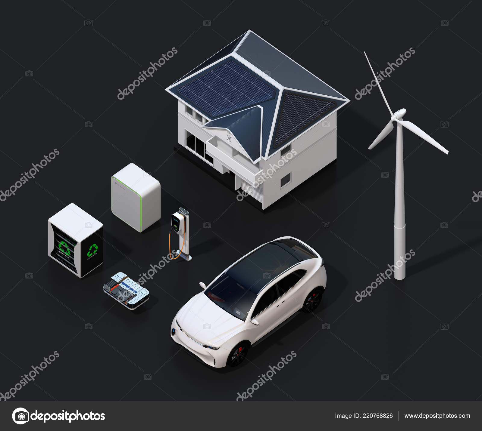 Renewable Energy Network Connected Smart Home Equipped Solar