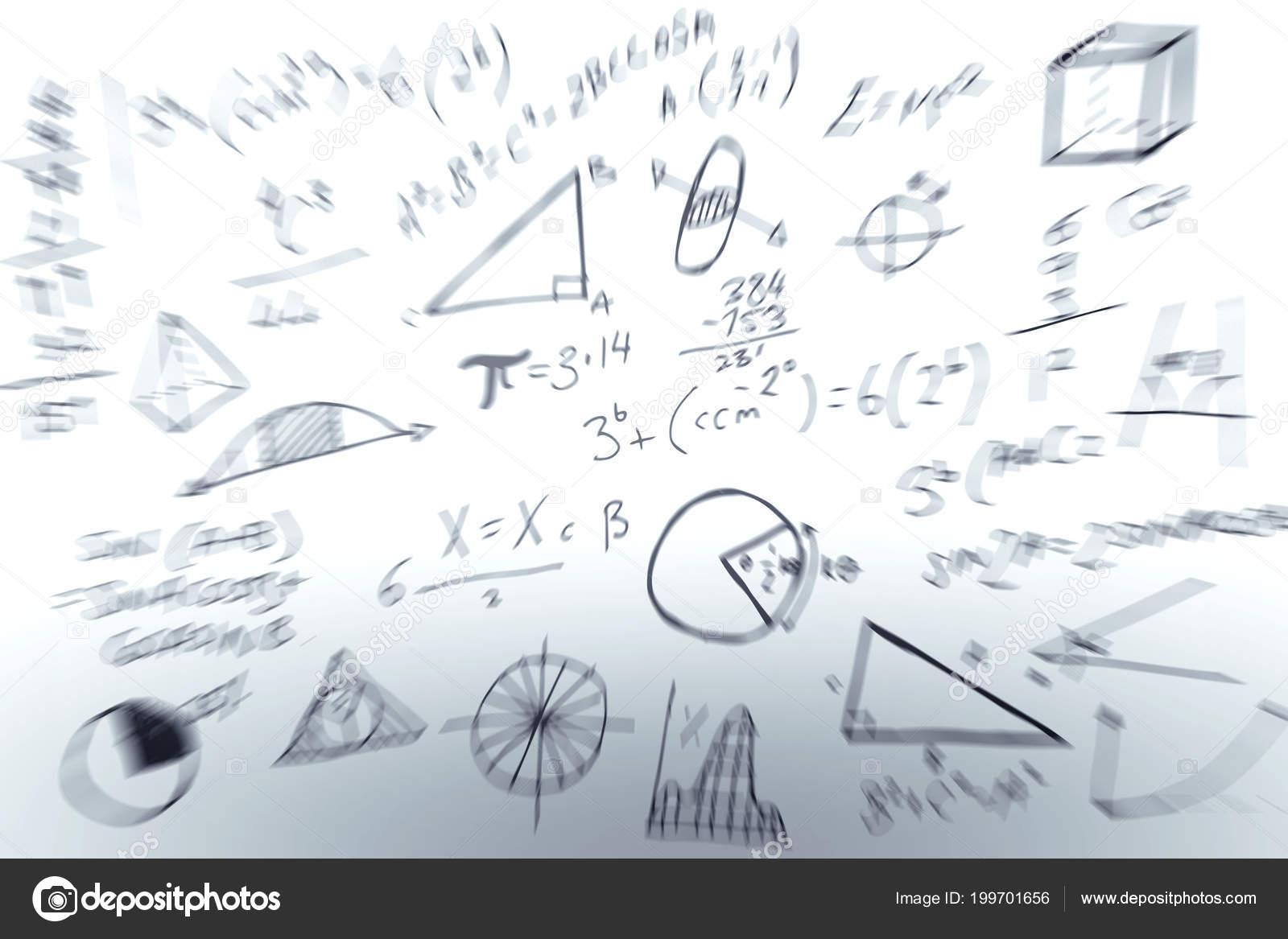 Maths Formulas White Background — Stock Photo