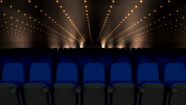 Digital Cinema Seating Black Gold Lights Background Animation ⬇ Video by ©  vectorfusionart Stock Footage #232394410