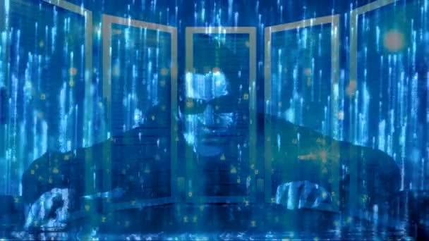 Animierter matrix hintergrund